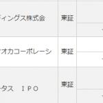 IPOの抽選初日、とりあえず2銘柄~