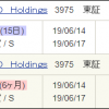 2019年6月末の株主優待、AOI TYO Holdings (3975)を追加!